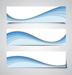 Blue Banner Backgrounds vector image