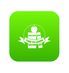 book icon green vector image