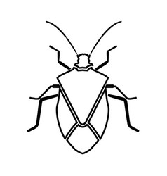 Bug black icon vector