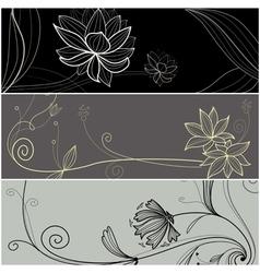 Cartoon flower card vector image