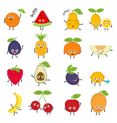 cartoon fruits cartoon fruits vector image