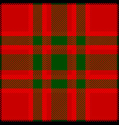 Clan macnab scottish tartan plaid pattern vector