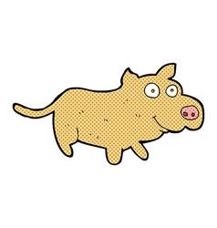 Comic cartoon happy little dog vector