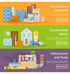 Construction Materials Banners vector