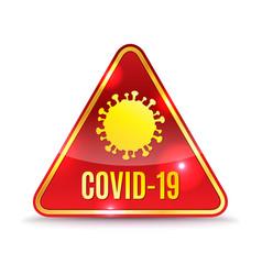 Covid-19 alert icon vector