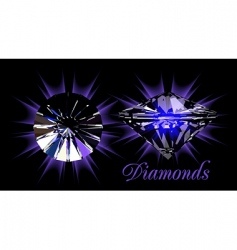 Diamonds on black vector