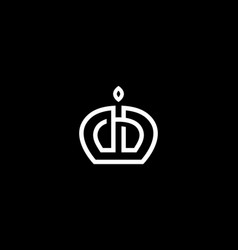 elegant crown premium symbol logotype vector image