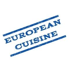 European Cuisine Watermark Stamp vector image