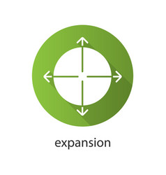 Expansion flat design long shadow icon vector