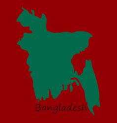 Flag and map bangladesh vector