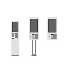 floor standing and wall self-ordering kiosks vector image
