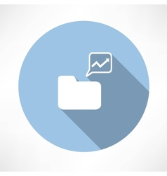 folder with diagram icon vector image