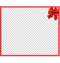 Full-frame border with red cartoon hearts vector