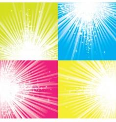 Glitter stars descending on be vector