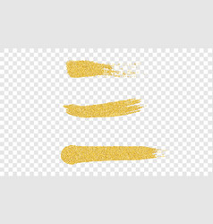 golden hand drawn brush strokes gold yellow paint vector image