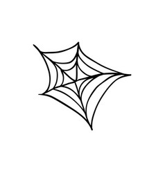 halloween spider web doodle element isolated vector image