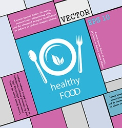 healthy food concept icon sign Modern flat style vector image
