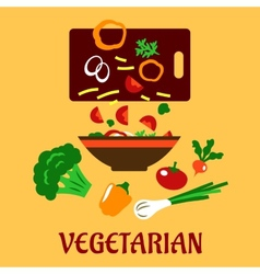Healthy vegetarian cuisine flat concept vector image