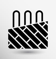 heated floor service icon button logo symbol vector image