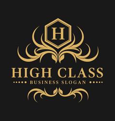 High class - luxurious logo vector