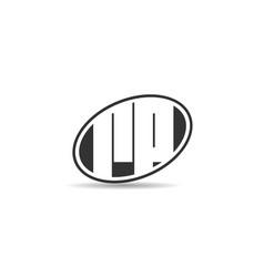 Initial letter rp logo template design vector