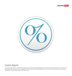 Labels percent price icon - white circle button vector