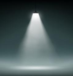 Lantern illuminates dark space vector