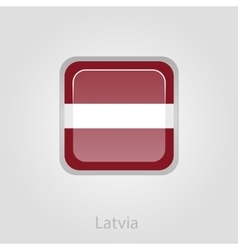 Latvian flag button vector