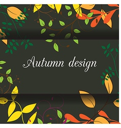 leaves design card vector image