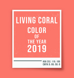 living coral - color of the year 2019 - photo vector image