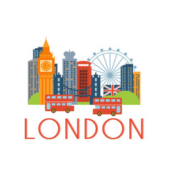 london classic toristic scenery vector image