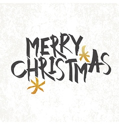 Merry Christmas Vintage Monochrome Lettering with vector image