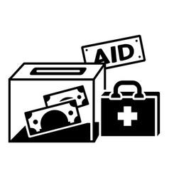 Migrant money aid icon simple style vector