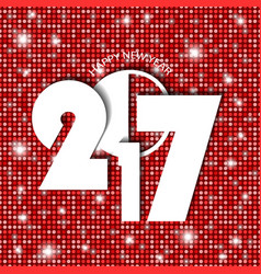 new year 2017 concept on red shining rounds vector image