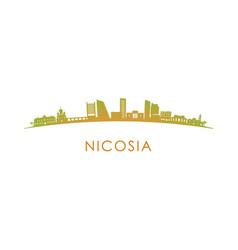 Nicosia skyline silhouette design vector