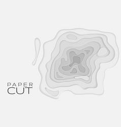 paper art cartoon abstract waves holes vector image