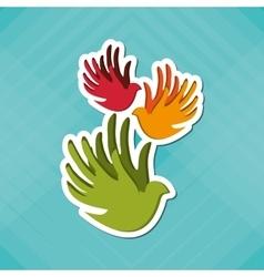 peace icon design vector image