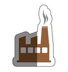 plant industrial building icon vector image