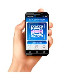 Qr code smart phone vector