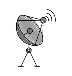 Radar dish antenna for broadcast communication vector