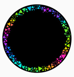 round frame scattering bright multicolored vector image