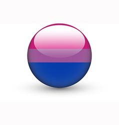 Round icon with bisexual pride flag vector image