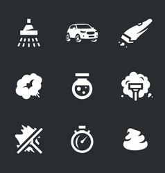 set carwash icons vector image