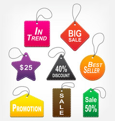 set of sale tags multicolor vector image