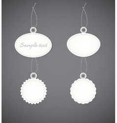 Simple decorative badges vector