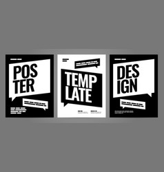 Simple template design with typography for poster vector