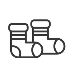 Socks chirstmas related editable outline icon vector