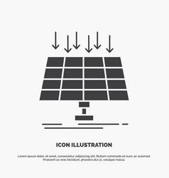 solar panel energy technology smart city icon vector image