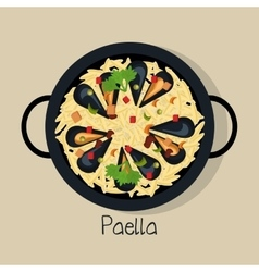 spanish paella isolated icon design vector image