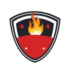 team frame emblem icon vector image